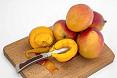 Frutti e interno mango