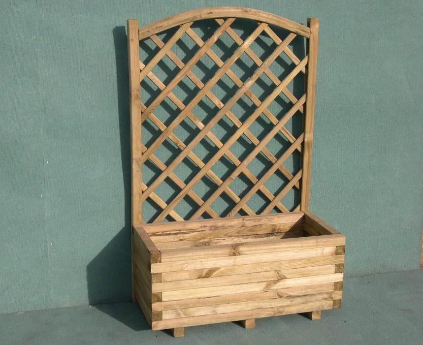 Vasi e fioriere in legno - Porta piante da esterno ...