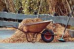 Foglie per pacciamatura giardino